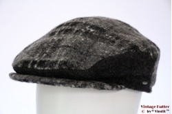 Flatcap Bugatti grey wool mix with earwarmer 58-59